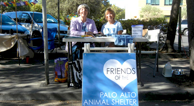 Friends of the Palo Alto Animal Shelter has a table at Downtown Farmer's Market every Saturday