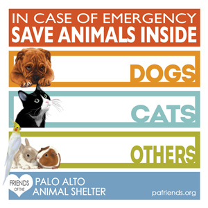 Pet Safety Sticker by Friends of the Palo Alto Animal Shelter
