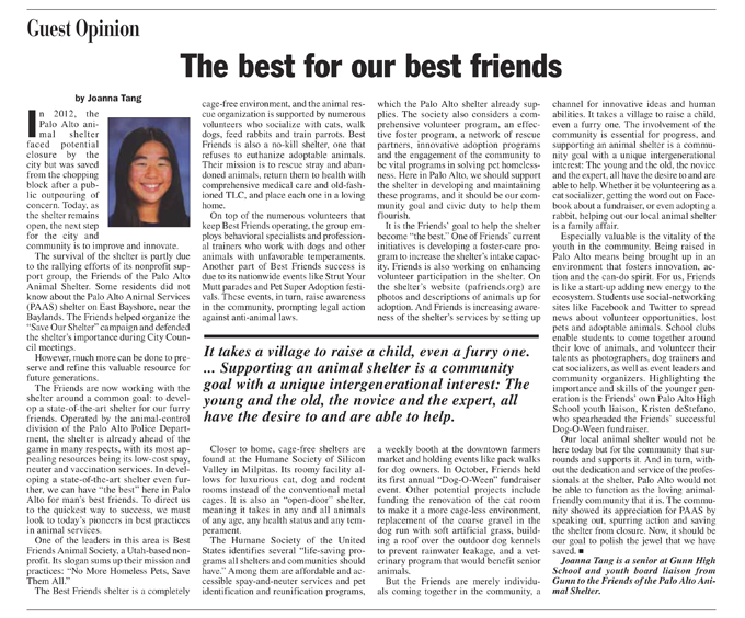 The Best for Our Best Friends by Joanna Tang